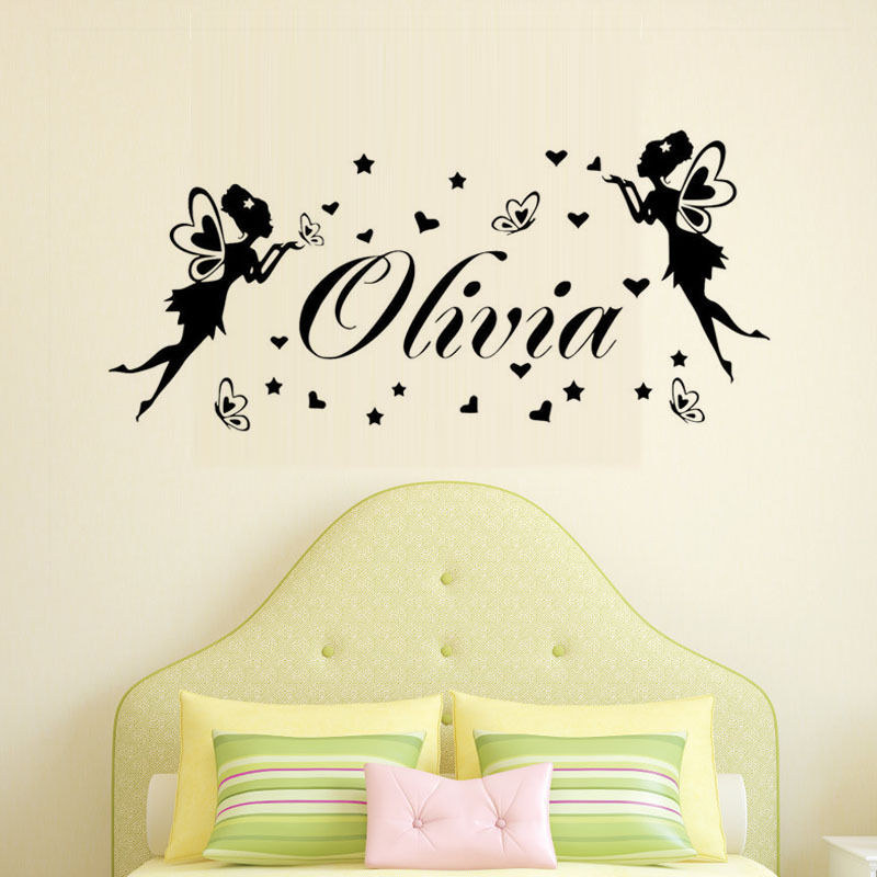 New Design Vinyl Wall Art Decal Custom Girls Name Sticker Girls Room ...