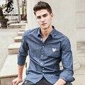Campamento de pioneros marca de ropa Camisas de mezclilla hombres Otoño Primavera Hombres de Manga Larga de moda casual Camisa masculina calidad de la camisa 611505