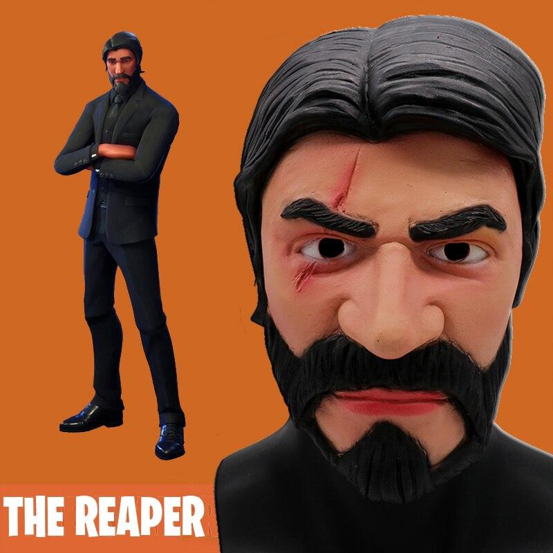 Die Reaper Maske Cosplay Schlacht Royale John Docht Masken Erwachsene Latex Helm Halloween-Party Requisiten Dropshiping