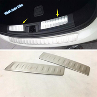 Lapetus Rear Trunk Bumper Plate Guard Lid Cover Trim 2 Pcs Fit For Infiniti QX30 2017 2018 2019 Stainless Steel Accessories