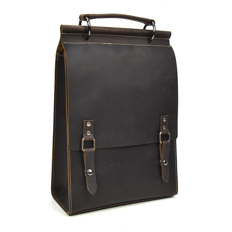 Fashion Reisetaschen 1 Frauen Weibliche Schulter A4 Unisex Männer Leder 2 Schule Rucksack Echtes Und Retro rwqpr7H
