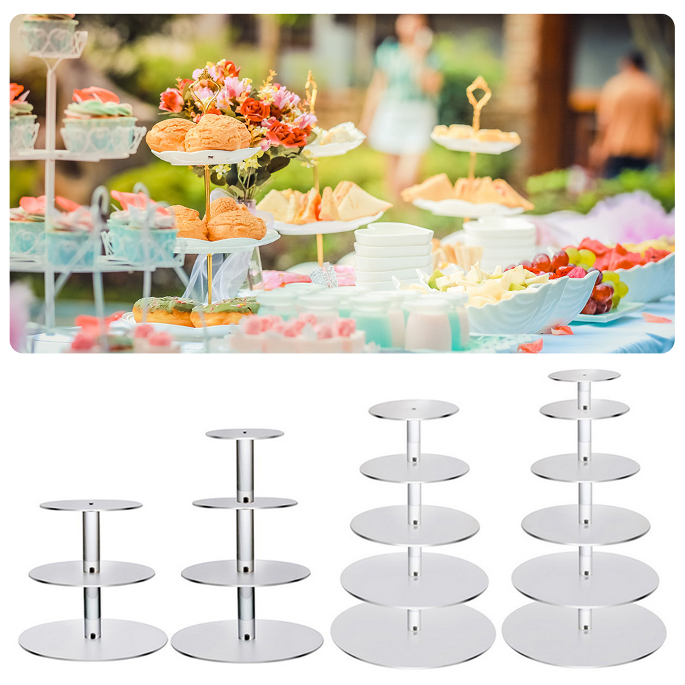1PCs Transparent Removable Acrylic Cake Display Stand For Party Round Cupcake Holder Bakeware Wedding Birthday Party Decoration
