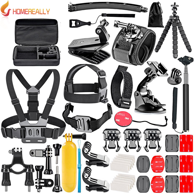 HOMEREALLY Gopro Accessory Set Chest Mount for Gopro Hero 5 4 3 4 Session 5 Session SJ4000 SJ5000 SJ6 SJ7 Xiaoyi 4K M10 M20 miniisw m ac universal curved surface mount kit for gopro hero 4 3 3 hero2 hero sj4000 black