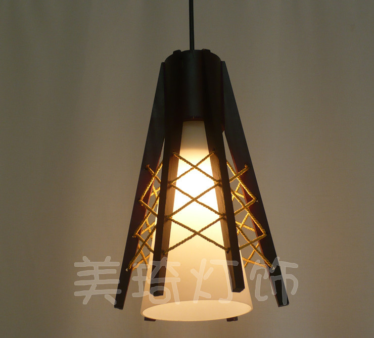 single head wood lamp glass Pendant Lights restaurant pendant light bedroom lamp Pendant FG633 chinese style classical wooden sheepskin pendant light living room lights bedroom lamp restaurant lamp restaurant lights