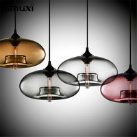 Smuxi Modern Creative DIY Colorful Glass Pendant Lights Restaurant Bar Living Room Hanging Ceiling Lamp Fixture