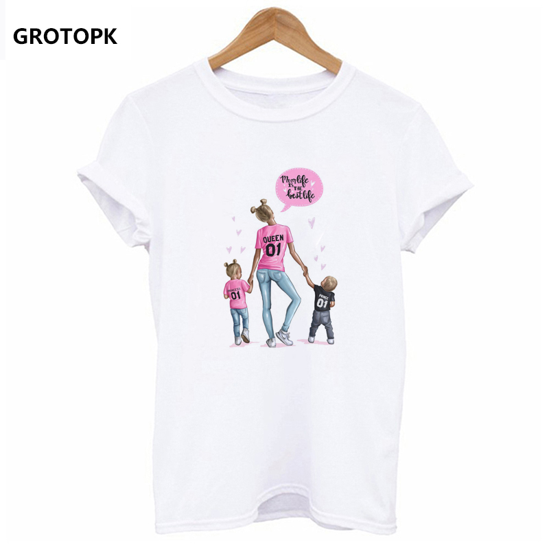 d99c6bb0 Mother's Love T Shirts Family Series Summer 2019 Funny T Shirt Women ...