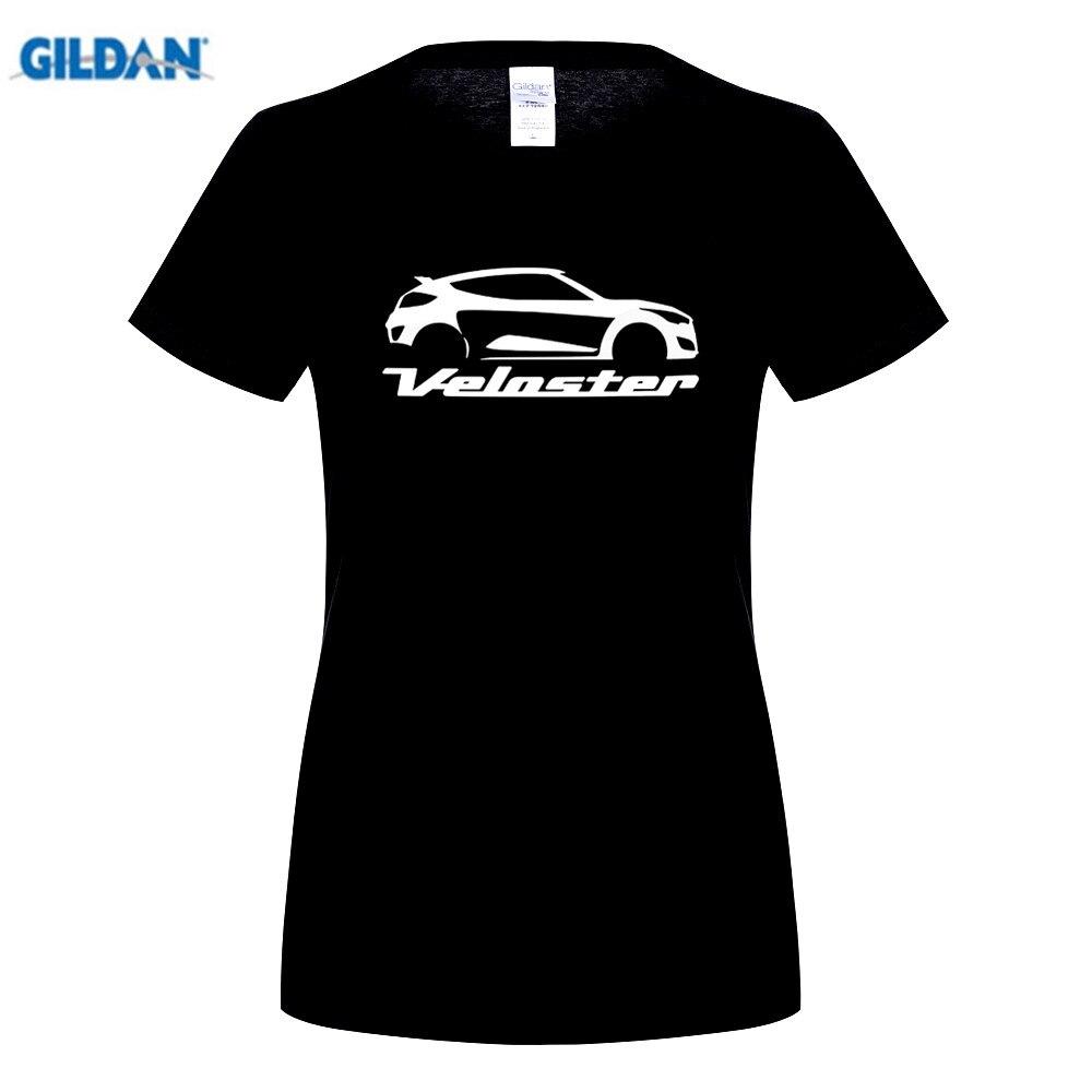 GILDAN Movie T Shirt Veloster Car Logo Women 100 Cotton Short Sleeve Shirt Customized Women Awesome