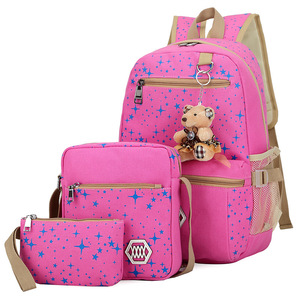 Image 3 - Kids SchoolBags Printing Backpack With Bear Children School Bags For Girl Cute Backpacks For Teenagers mochila infantil