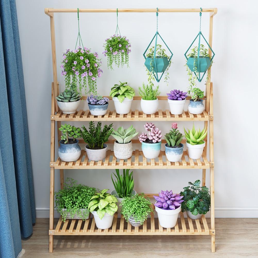 Metal Flower Stand Plant Pot Herbs Holder Space Saving Decorative Display Shelf