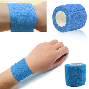 New Self Adhesive Ankle Finger Muscles Care Elastic Medical Bandage Gauze Tape Sports Wrist Support BHD2