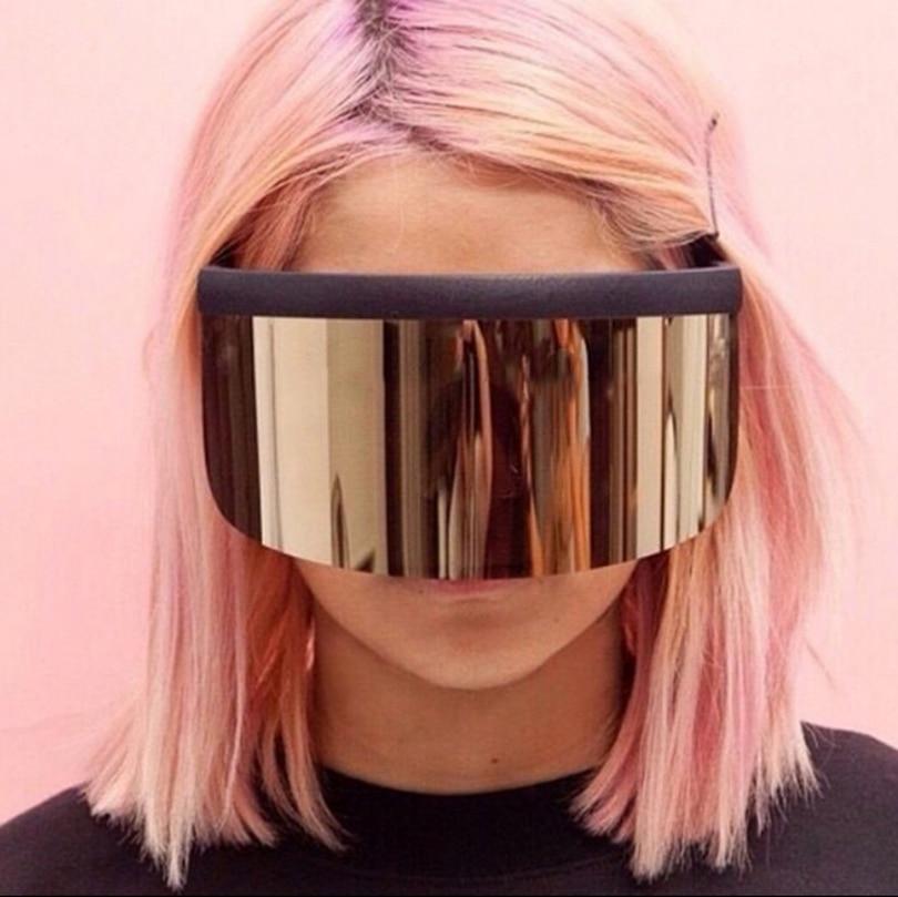JackJad 2018 Fashion Oversized Mask Shape Shield Style Sunglasses Cool Street Snap Brand Design Sun Glasses Oculos De Sol 1799