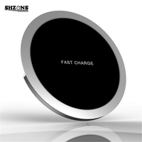 Ultra thin All metal QI Wireless Charger 5V/2A 9V/1.67A Wireless Fast Charging for iPhone 8 10 X Samsung S6 S7 Note8 S8 S8+ J25