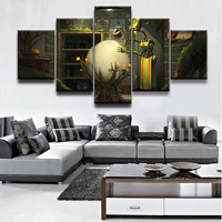5 Pieces Sci Fi Robot Modular Poster Modern Home Wall Decor Canvas Picture Art Print Painting On Canvas For Living Room Bedroom