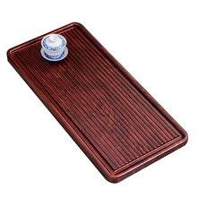лучшая цена Household Flat Tea Tray Solid Wood Tea Table Kung Fu Tea Set Simple Drainage Tea Tray Cost-effective Multiple specifications