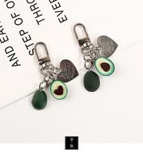 2019 Hot Originality New Simulation Fruit Key chain Avocado Keychain Heart-shaped Fashion Jewelry Gift For Men Or Women