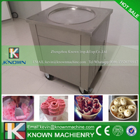 KN 1A single pan fried ice cream roll machine / flat pan fry ice cream machine
