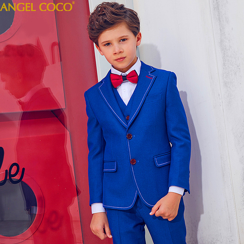 Menino Boys Suits For Weddings New Arrival Solid Navy Blue Boys Wedding Suit Formal Suit For Boy Kids Wedding Suits Blazer Boy 2018 new arrival boy suits england style boys blazer long sleeve plaid for kids clothes