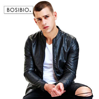New Spring Autumn Slim Fit PU Leather Jackets Fashion Black Motorcycle Leather Jackets Male Casual Coats High Quality 9207 - DISCOUNT ITEM  16 OFF Men\'s Clothing