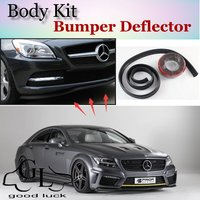 Bumper Lip For Mercedes Benz CLS W218 C218 W219 C219 / Top Gear Shop Spoiler For Car Tuning / TOPGEAR Recommend Body Kit + Strip