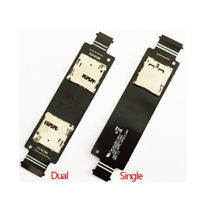 Original New Sim Card Slot Socket Holder Reader Flex Cable For ASUS Zenfone 5 A500CG A501CG T00J T00F Mobile Phone