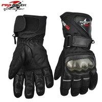 Pro Biker Guantes Motorcycle Gloves Waterproof Leather Gloves Motorcycle Winter Warm Full Finger Motocross Motorbike Moto