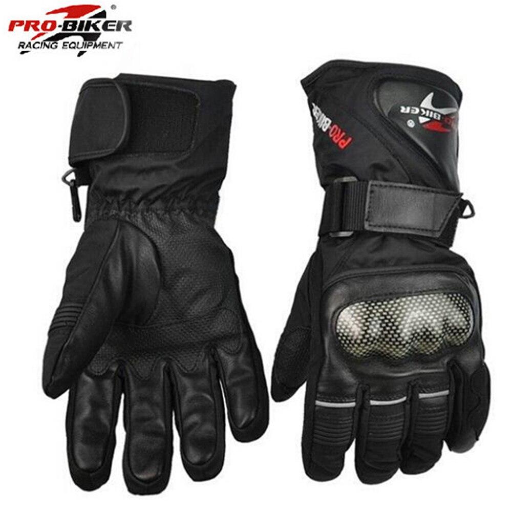 Motorcycle leather gloves waterproof - Pro Biker Guantes Motorcycle Gloves Waterproof Leather Gloves Motorcycle Winter Warm Full Finger Motocross Motorbike Moto