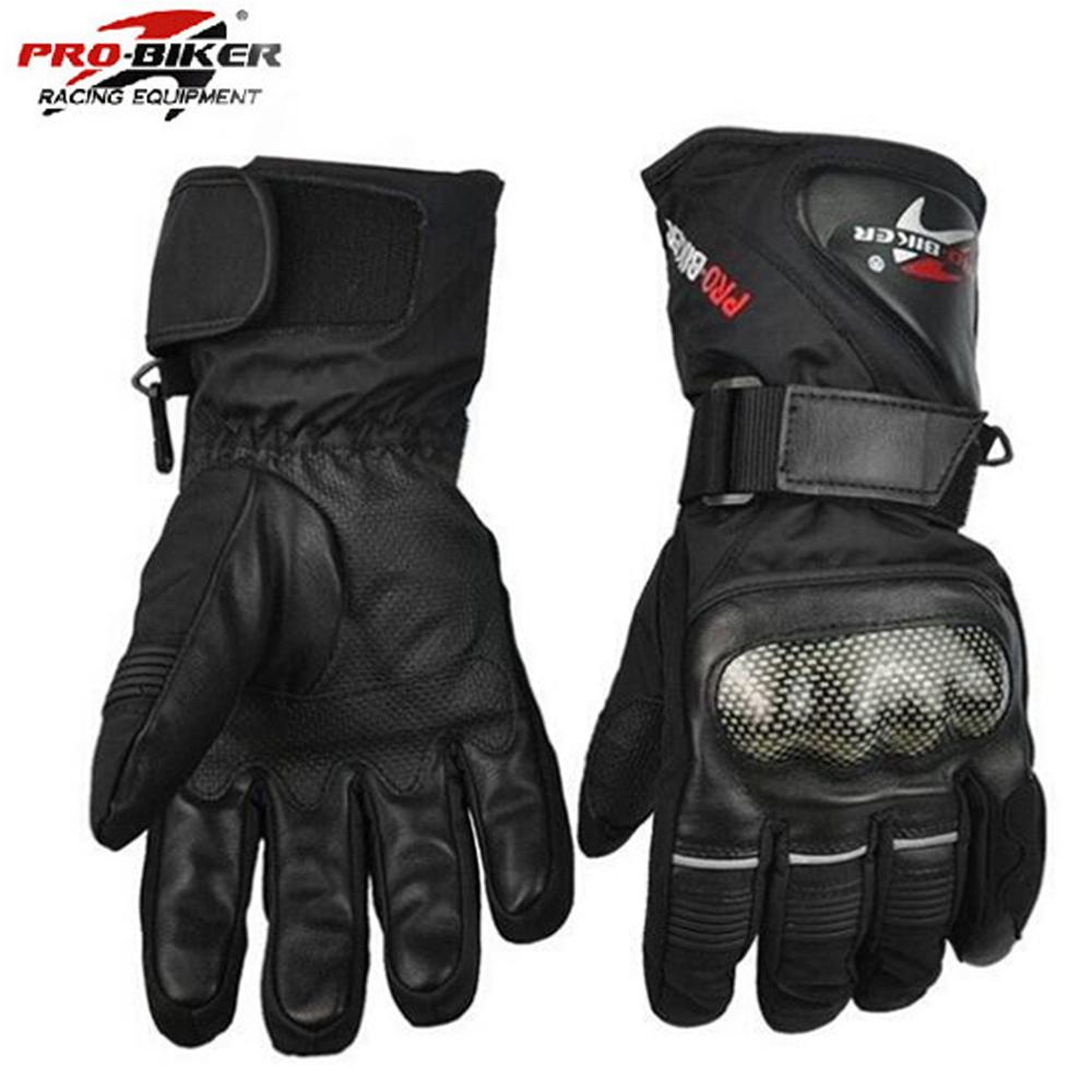Prix pour Pro biker gants moto gants imperméables en cuir gants moto hiver chaud plein doigt motocross moto moto gant