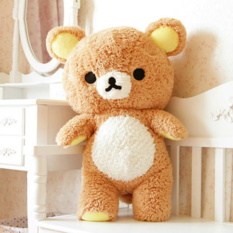 Animal Pillow Relaxation : 55/75cm Giant Rilakkuma Bear Plush Anime Toys Life Size Relax Bear Pillow Dolls Soft Stuffed ...