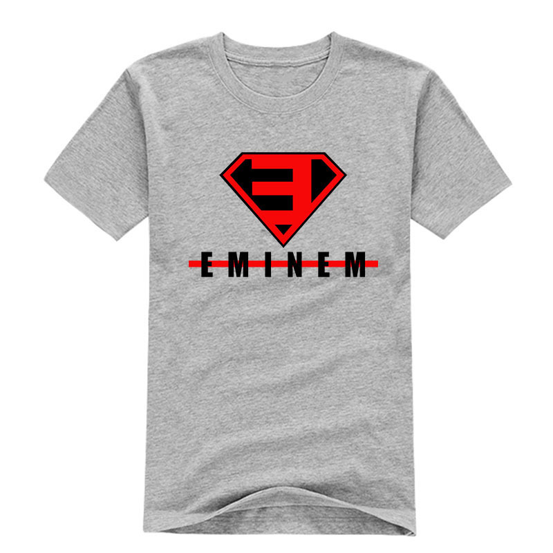 Fashion logo printing eminem t shirts for men pattern man for Tee shirt logo printing