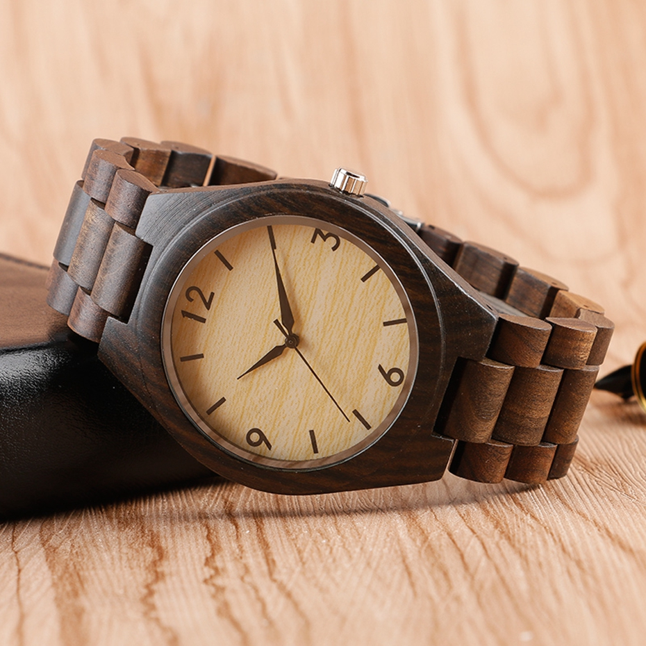 Creative Full Natural Wood Male Watches Handmade Bamboo Novel Fashion Men Women Wooden Bangle Quartz Wrist Watch Reloj de madera 2017 (30)