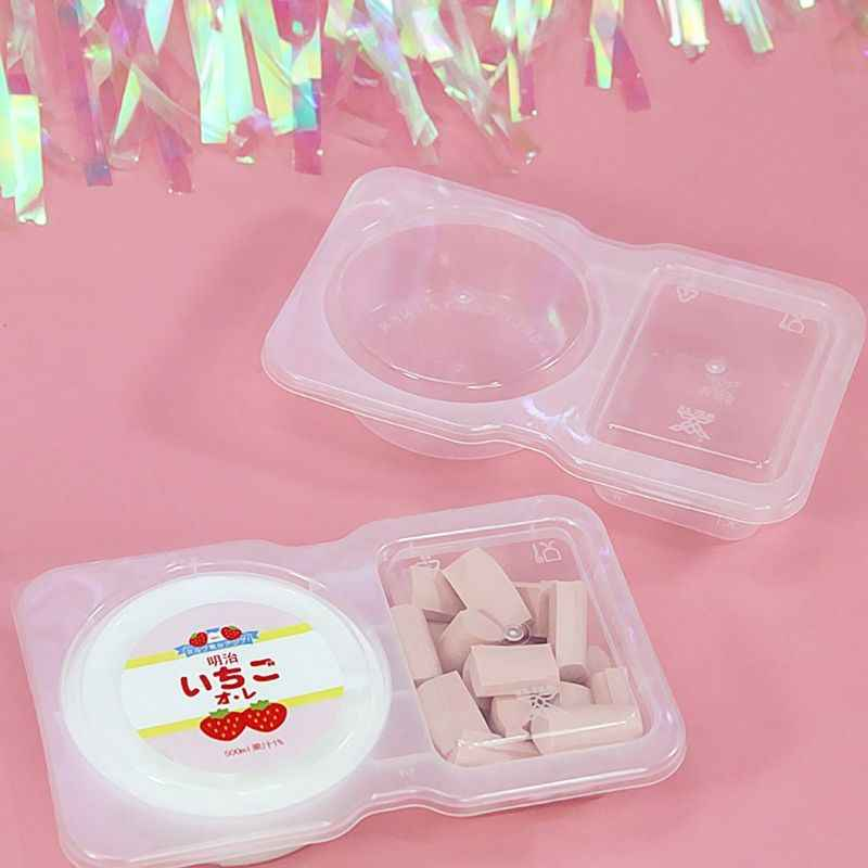1Pc 140ml Clear Plastic Sauce Chutney Cups Food Container Slime Storage Box Case with Lid