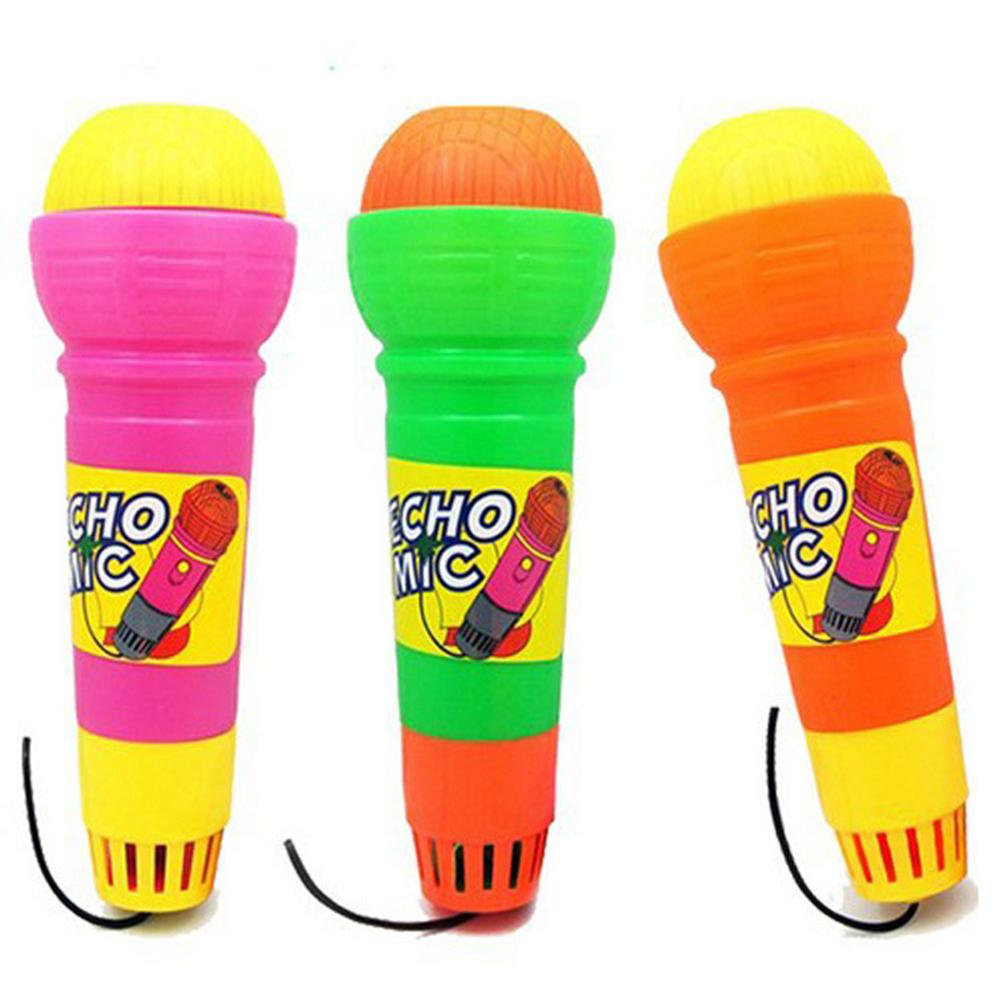 1PCS Random Color Plastic Magic Mic Novelty Echo Microphone Pretend Play Toy Gift For Children