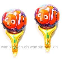 20pcs/lot hand cheering foil balloons cartoon fish Nemo balloon kid toys for festival birthday party