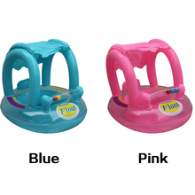 2-5 Year old Kid Summer Baby Pool Floats Safety Swimming Rings Inflatable Swim Float With Sunshade Seat Raft Water Fun Toys
