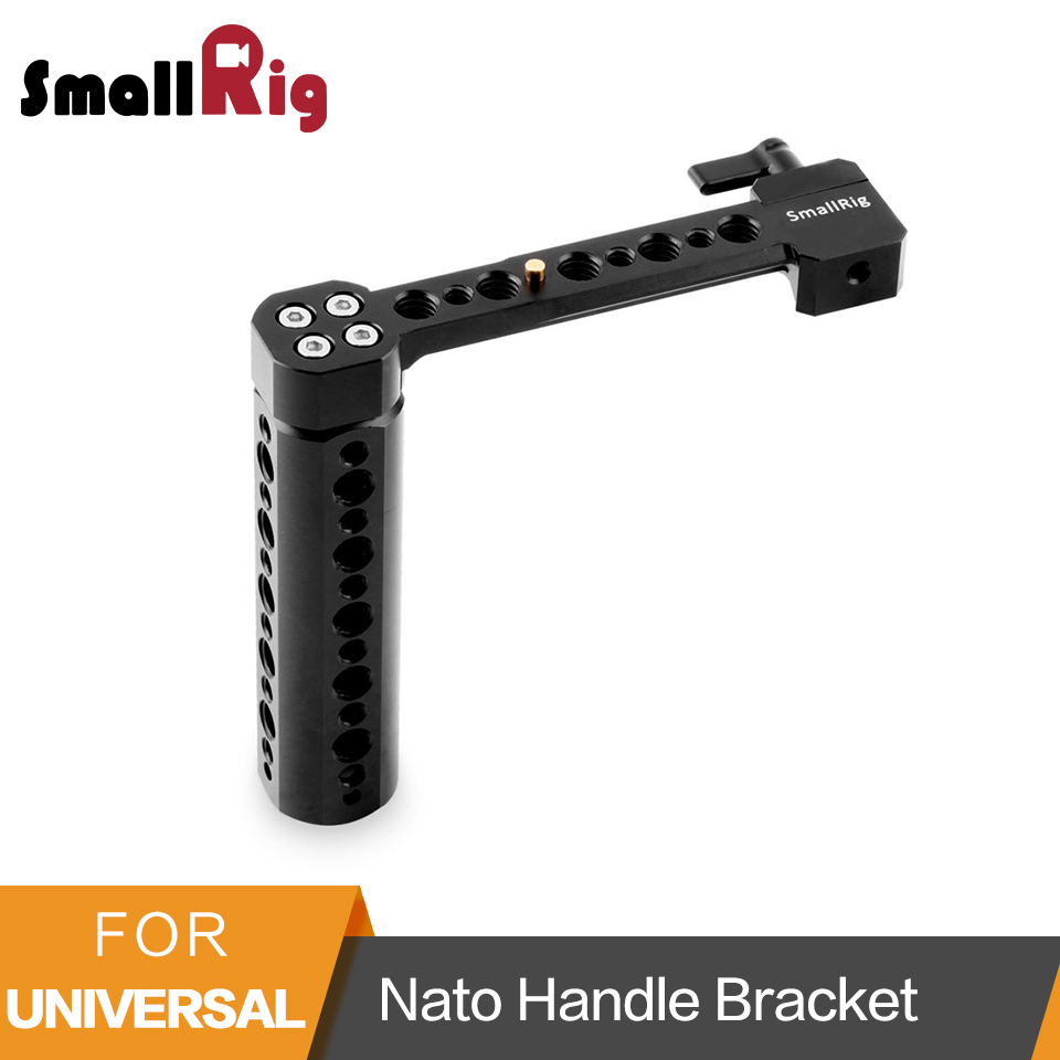 цена SmallRig Camera Top Handle Mounted Side Nato Handle Bracket with 1/4 and 3/8 Threaded Holes for DSLR Camera Cage Handle - 1534