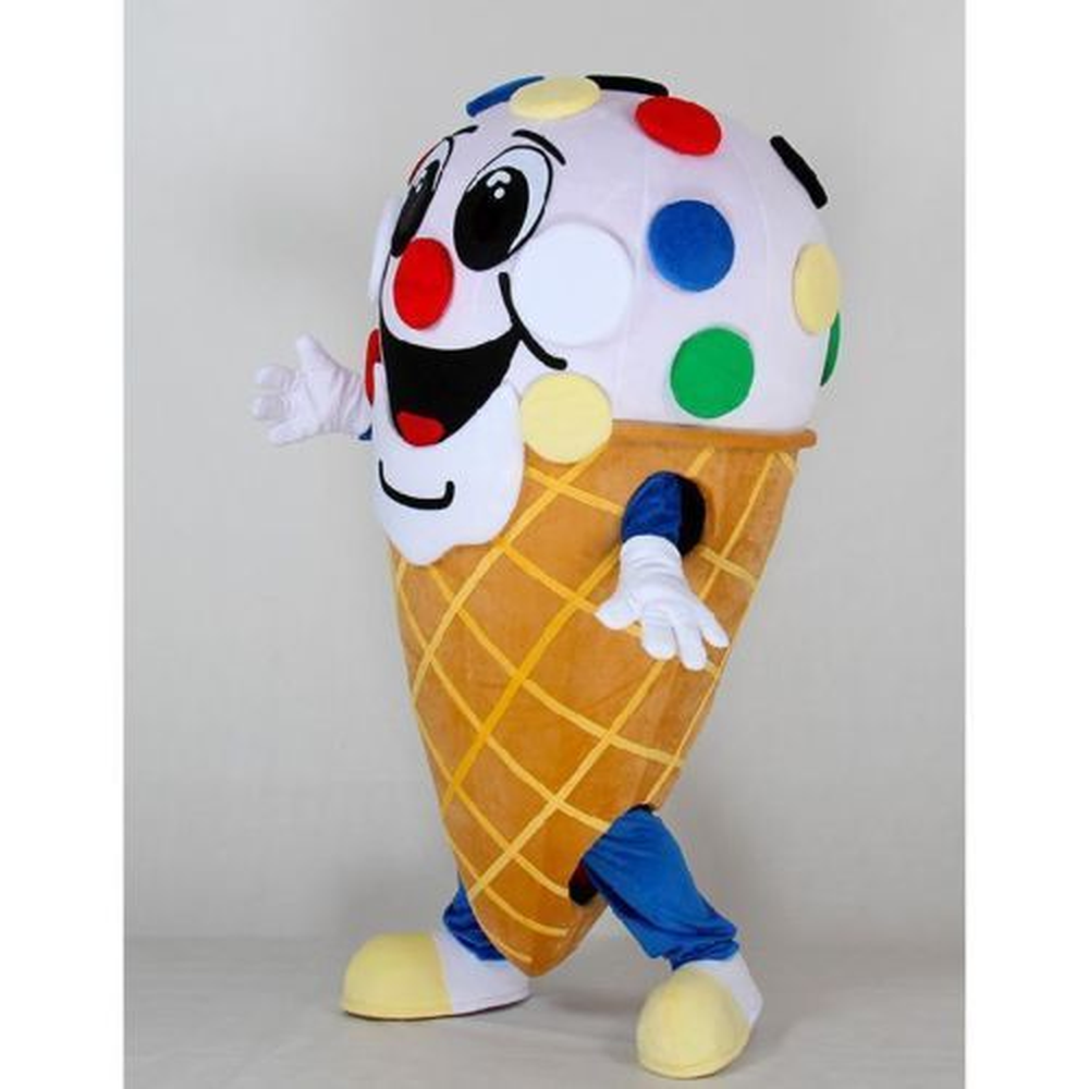 New Ice Cream Shop Cone Mascot Costume Suits Cosplay Party Game Dress Outfits Clothing Advertising Carnival Halloween Christmas