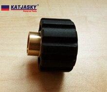 "free shipping 100% copper adapter for Karcher HDS pro washer gun foam washing gun connector Female thread G1/4"" 19"