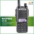 Новый 100% Завод Уполномоченный Новый BAOFENG УФ-82 Dual Band UHF/VHF136-174/400-520 МГц 2-полосная радио + Двойной PTT Гарнитура