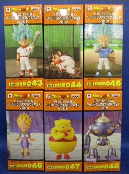 Banpresto World Collectable Figure WCF Vol.8 Collection Figure - Set of 6 Pcs Son Goku Vegeta Yamcha Dragon Ball SUPER shinee 3rd album vol 3 bound the misconceptions of us release date 2013 8 8
