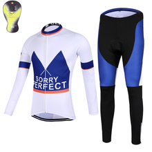 PERFECT Women's Winter Cycling clothing Thermal fleece Long Sleeves Cycling Jersey and Cycling Long Pants a Set Maillot+Culote