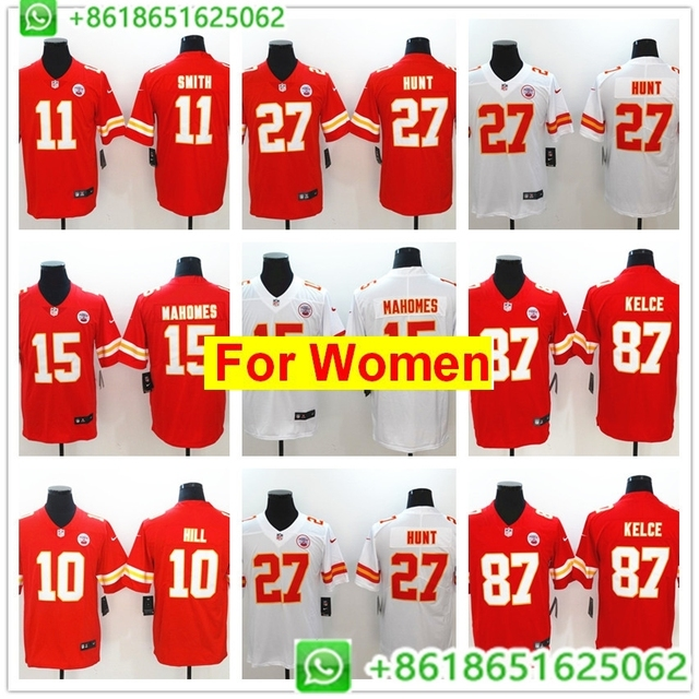 best sneakers 06a0a ecfc3 US $26.99 |2018 women Kansas City Patrick Mahomes II Travis Kelce Kareem  Hunt Tyreek Hill Vapor Untouchable Limited Player Jersey Shirts on ...