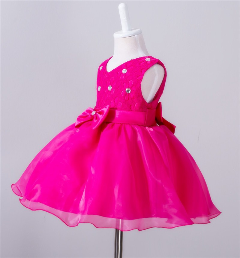 Baby Christening Bow Dress (16)
