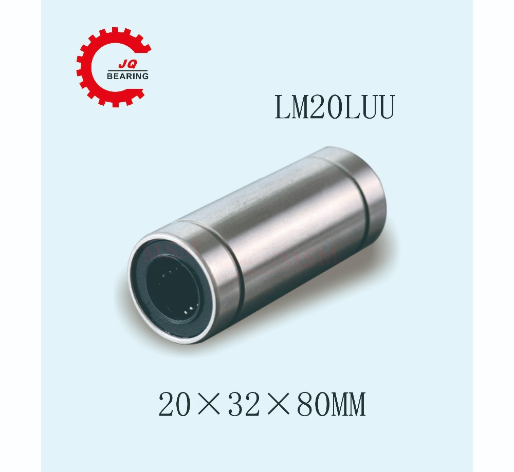 20mm x 32mm x 80mm Rubber Seal Square Linear Motion Ball Bearing LMK20L