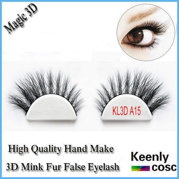 Fastest Shipping! Real handmake mink hair eyelash with custom package box thick natural 3d mink eyelash extension