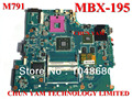 Nueva original mbx-195 m791 placa base para sony vaio vgn-ns series notebook pc portátil placa principal motherboard 1p-0089j00-8010