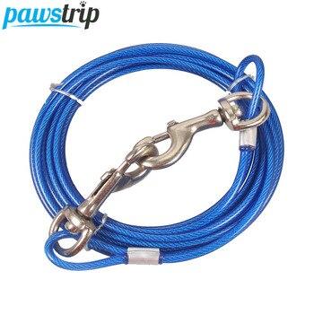 Punta de pata 3 M 5 m 10 m alambre de acero Pet correa de perro de cuerda Jogging entrenamiento doble corriendo correa de perro para perros grandes