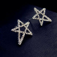 2017 BIG STAR Crystal Designed CC Stud Earrings Women All Match Gold Plated Jewelry Wedding Charms Asymmetric Earrings