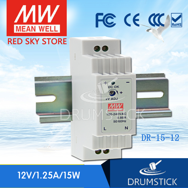 Best seller MEAN WELL DR-15-12 12V 1.25A meanwell DR-15 15W Single Output Industrial DIN Rail Power SupplyBest seller MEAN WELL DR-15-12 12V 1.25A meanwell DR-15 15W Single Output Industrial DIN Rail Power Supply