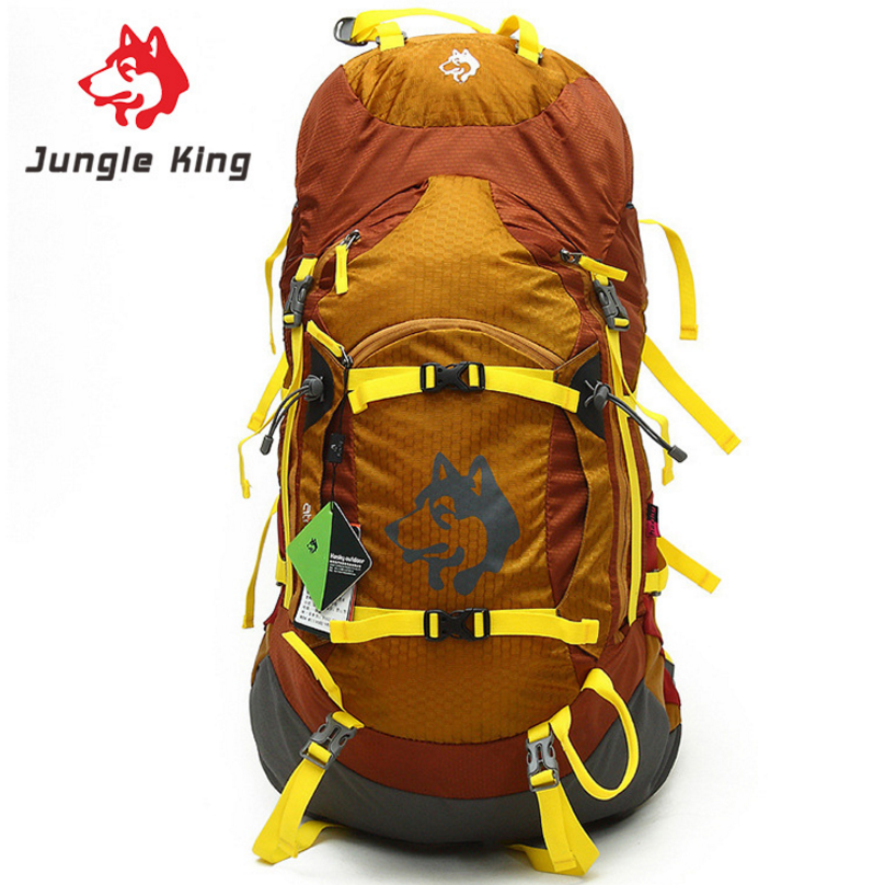 Jungle King Outdoor Camping Backpack Men Women 55L Large Capacity Backpack Hiking Backpack Waterproof Climbing Sports Bags high quality 55l 10l internal frame climbing bag waterproof backpack suit for outdoor sports travel camping hinking bags