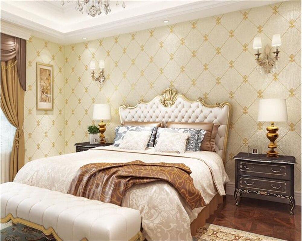 Beibehang européen luxe rhombique peau de daim épaisse 4D papier peint lit paquet doux chambre salon film fond papier peint